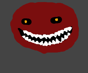 scary red monster