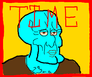 handsome squidward time magazine