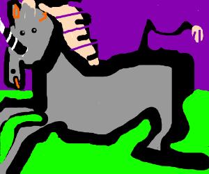 Vampire unicorn running fast