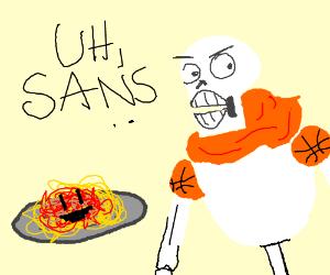 papyrus' spaghetti turns evil