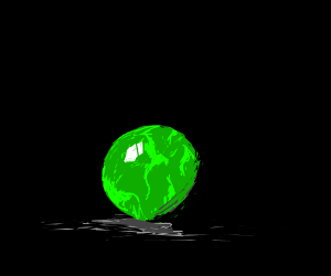 Lonely green marble.