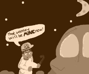 Pizza guy robs alien
