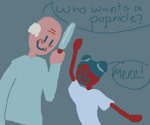 Old man wants to give girl a popsicle...uh-oh