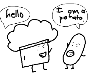 ASDF Muffin greets Potato