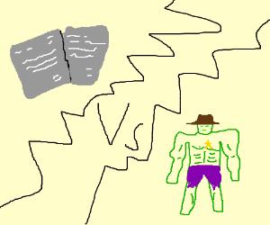 Gray letters vs. The hulk sherrif