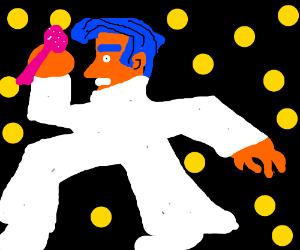 Elvis ghost floating through space