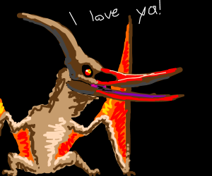 A  Cute Fuzzy Pterosaur Loves You