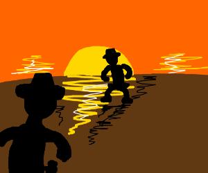 Showdown at sundown