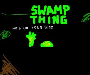 Swamp Thing saves drowning boy