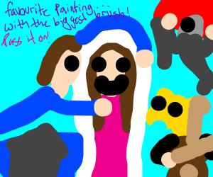 Draw your favorite painting--biggest brush PIO