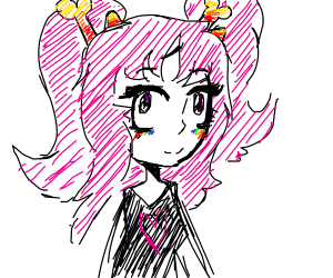 Anime Woman with horns.