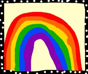 The rainbow was framed!