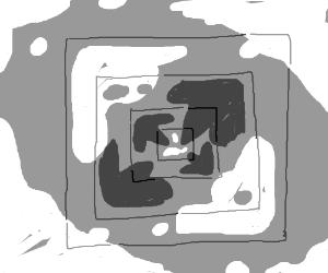 Ice-ceptipn, an ice cube inside of an ice cube
