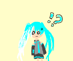 Miku's(vocaloid) hair is turning white