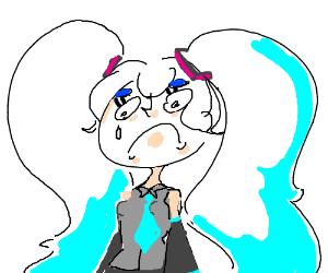 Sad Hatsune Miku.