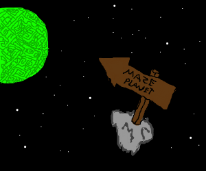 The Maze Planet; a planet that is all mazes