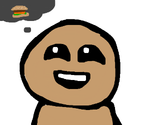 Isaac wants a burger.