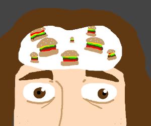 I got burgers on my mind