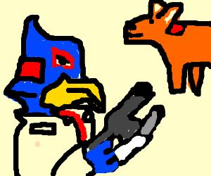 Falco Lombardi with a fox