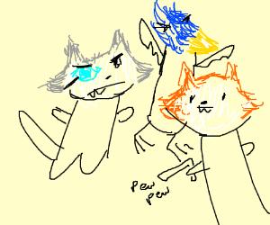 star fox, w/ semi realistic animals