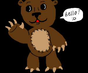This is a bear hello.