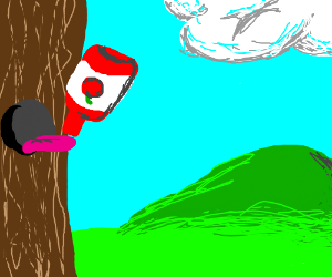 Tree Bark Drinks Ketchup Drawing By Arynsia