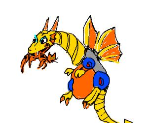 Mecha Dragon (Mega Man 2) eats a cat