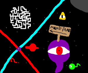 <---- maze planet over there