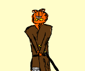 Garfield the cat is a samurai KYOP