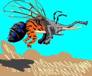 Elephant-Tiger-Shark-Fly