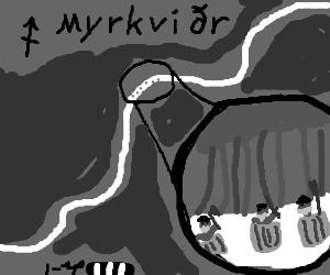 The dwarves sneak through Myrkwood