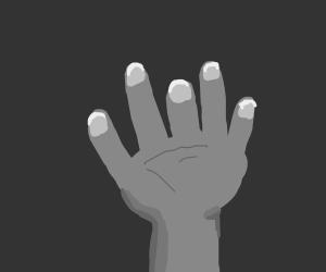 A shorter-than-average middle finger