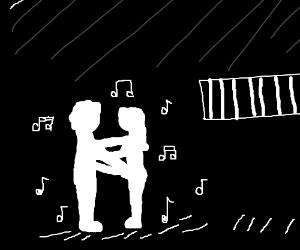 Dancing jailhouse silhouettes