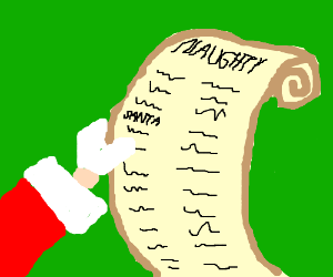 Santa is on the naughty list