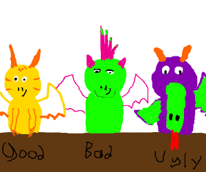 The Good, the Bad, the Ugly includes dragon