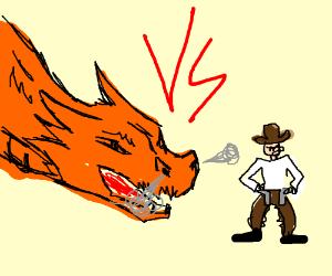 Dragon vs cowboy