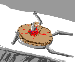 Pie Is A Chestburster Alien From Another Pie Drawing By Red Bandana
