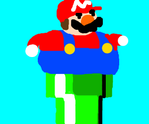 fat mario cant fit in pipe