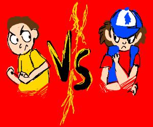 Dipper VS Rick & Morty