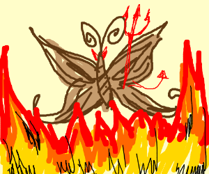A brown butterfly is satanic.