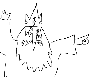 The Ice King points angrily