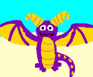 Spyro the Dragon in the desert