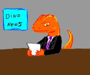 Dino the news anchor