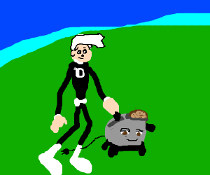 Danny phantom walking the Brave Little Toaster