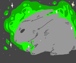 A magical meowing rabbit!?