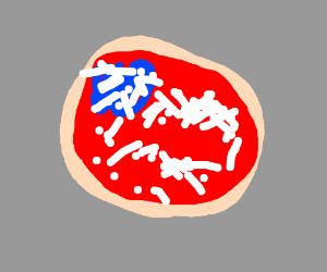 A patriotic pizza