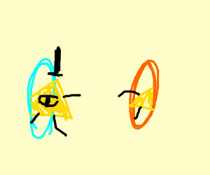 """Bill cipher in portal game. """"Wrong Portal!"""""""