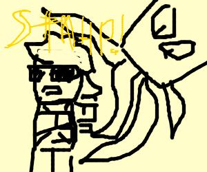 Man tells squid to not hit him