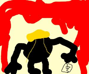 Black Ball w/yellow helmet&feet breaks Matrix