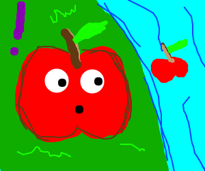 Apple man is shocked to find apple in river